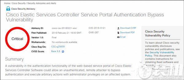 解决服务器漏洞问题!思科发布Elastic Services Controller 3.1.0版本