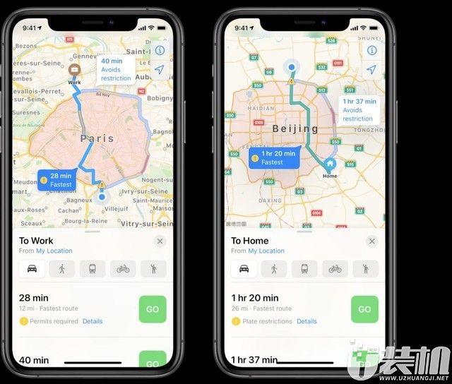 苹果地图增加更多细节,骑行导航选项首次加入地图之中