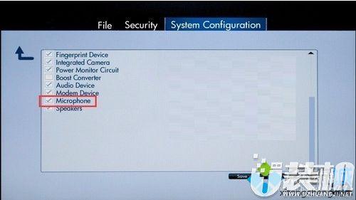 惠普笔记本如何进入EFI BIOS关闭内置麦克风3